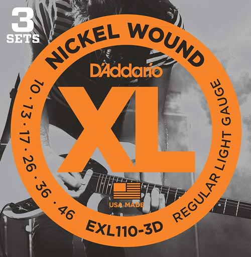 D'Addario EXL110-3D XL Nickel Wound Electric Guitar Strings
